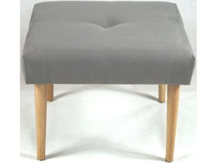 Stolik Kawowy Płytko Pikowany Kwadratowy Altara 14 Szara Nogi Okrągłe Naturalne Mat 50cm