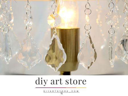 Zawieszka Kryształki Barok na Abażur Żyrandol Lampę Crystal 10cm 1szt